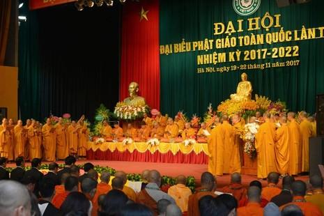 Đại hội Đại biểu Phật giáo toàn quốc nhiệm kỳ 2017-2022 - Ảnh: Bảo Toàn/BGN