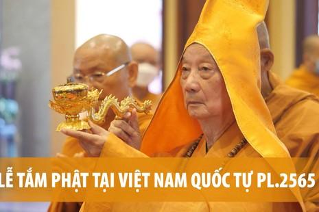 [Video] Thiêng liêng lễ Tắm Phật - mở đầu Đại lễ Phật đản Phật lịch 2565 tại TP.HCM