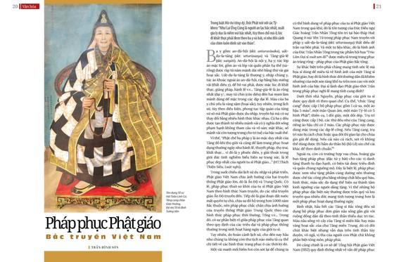 Bài trên Báo Giác Ngộ số 1122 - Thiết kế: Phòng Mỹ thuật BGN/Tống Viết Diễn