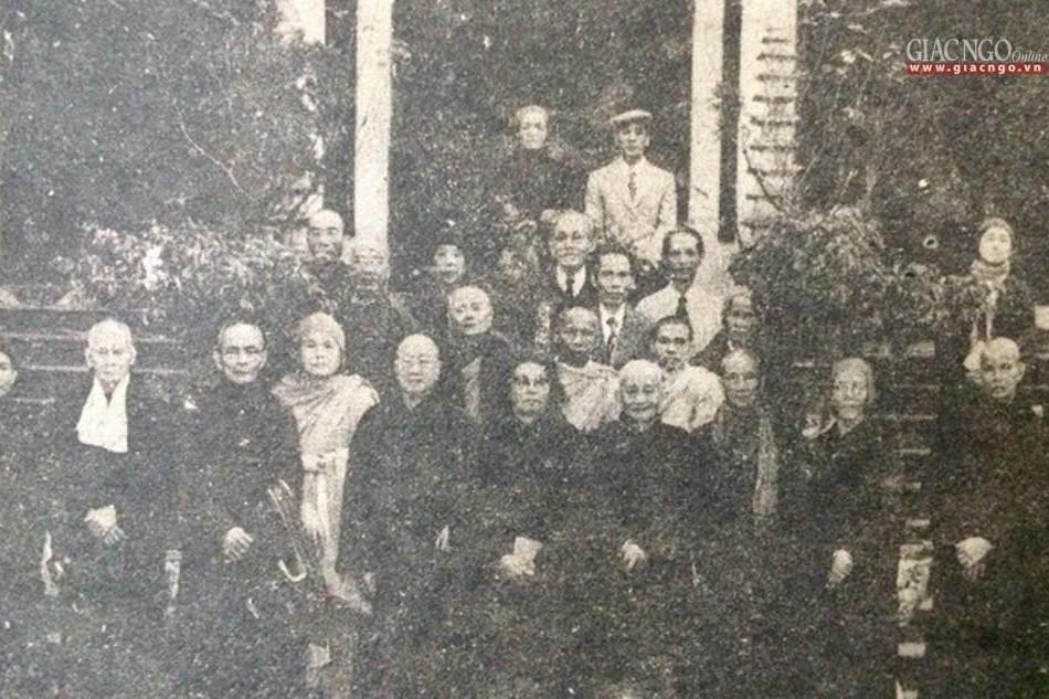 Chư tôn giáo phẩm các thành viên Ban Vận động tại chùa Quán Sứ, tham dự Hội nghị kỳ 2, ngày 18-1-1981 - Ảnh Tư liệu của Báo Giác Ngộ