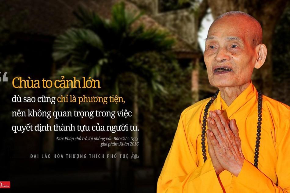Truyền hình trực tiếp lễ nhập tháp Đại lão Hoà thượng Thích Phổ Tuệ trên Giác Ngộ Online