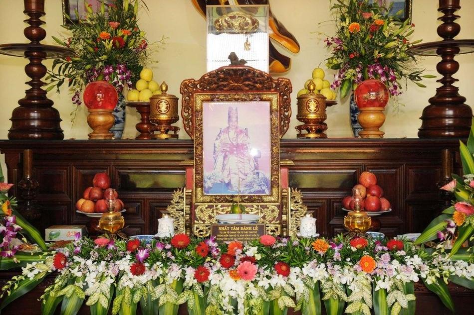 Di ảnh cố Hòa thượng Thích Viên Mãn tại nhà hậu tổ chùa Kỳ Viên