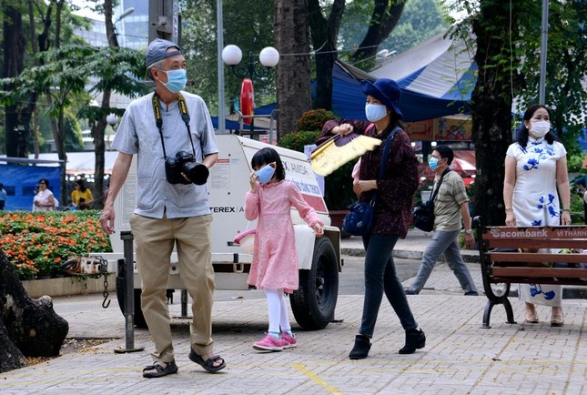 [Phóng sự ảnh] Người dân TP.HCM đón Tết Tân Sửu trong tình hình có nhiều ca mới Covid-19 cộng đồng ảnh 17