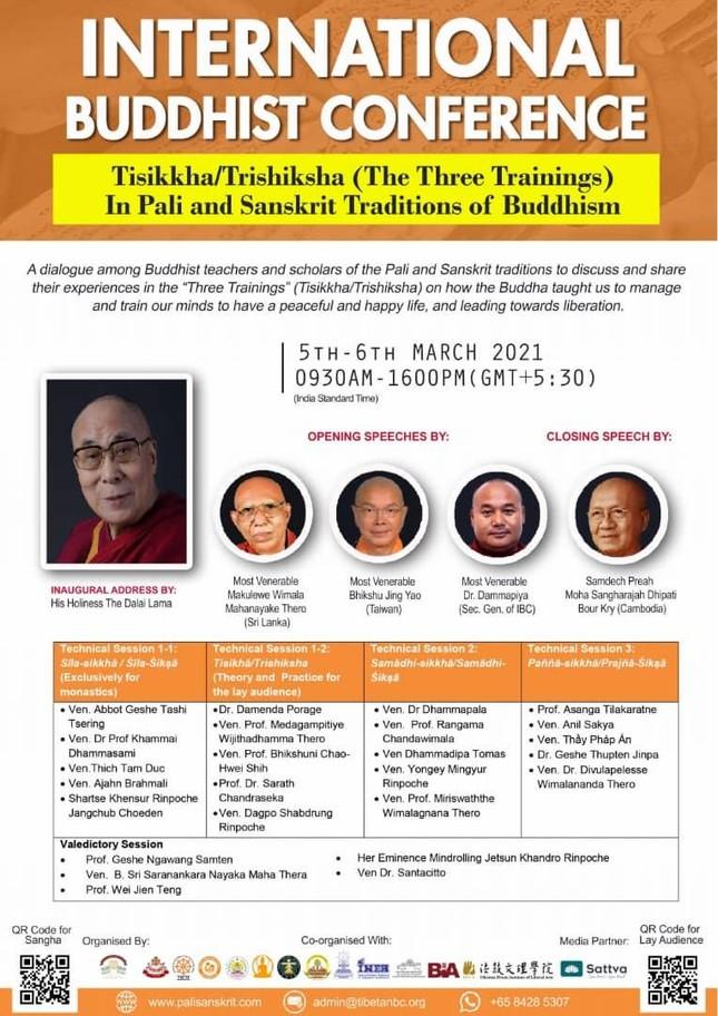 Hội nghị Phật giáo Quốc tế về Tam học theo truyền thống Pali và Sanskrit ảnh 1