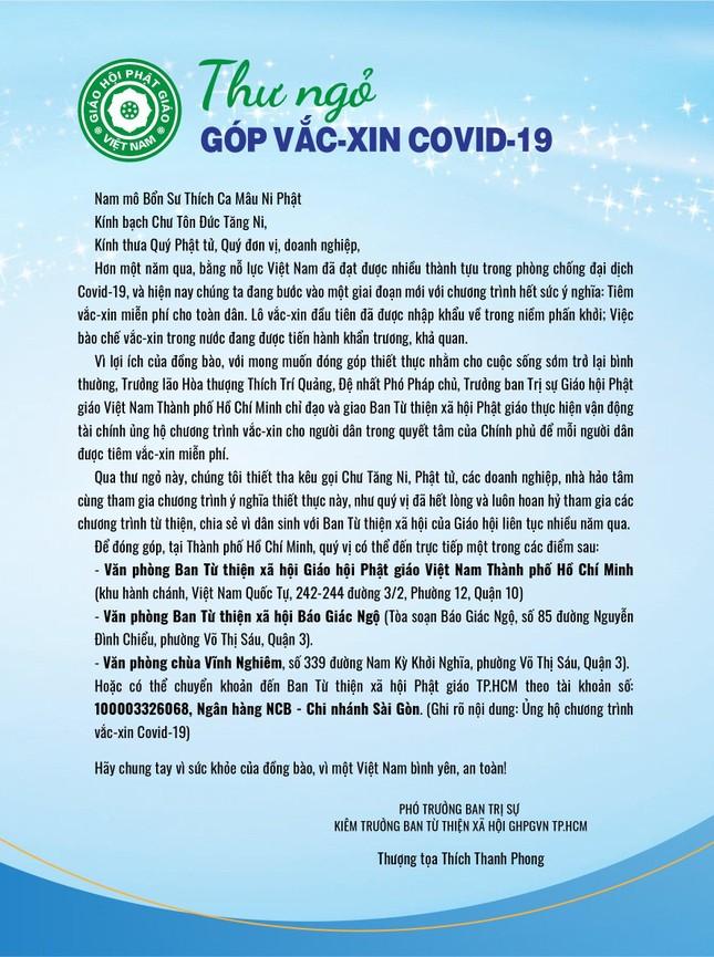 Chuyển tiền bạn đọc Báo Giác Ngộ đóng góp mua vắc-xin Covid-19 cho người nghèo ảnh 2