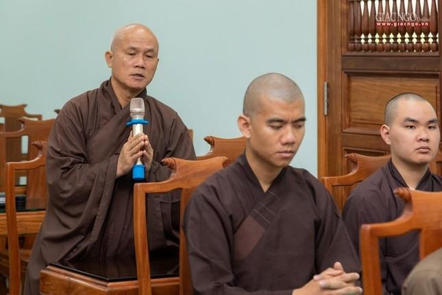 Hòa thượng Thích Minh Thông khai thị tổng quan về giới luật cho lớp đầu tiên khoa Luật học Phật giáo ảnh 3