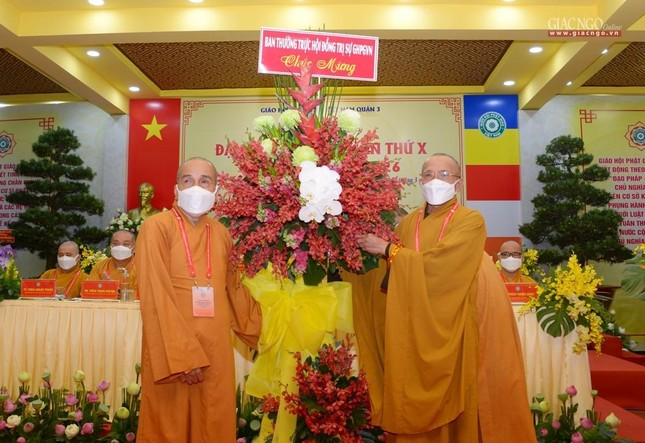 Đại hội đại biểu Phật giáo quận 3 đã suy cử Tân Ban Trị sự nhiệm kỳ 2021-2026 với 34 thành viên ảnh 15