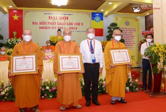 Đại hội đại biểu Phật giáo quận 3 đã suy cử Tân Ban Trị sự nhiệm kỳ 2021-2026 với 34 thành viên ảnh 25