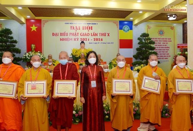 Đại hội đại biểu Phật giáo quận 3 đã suy cử Tân Ban Trị sự nhiệm kỳ 2021-2026 với 34 thành viên ảnh 27