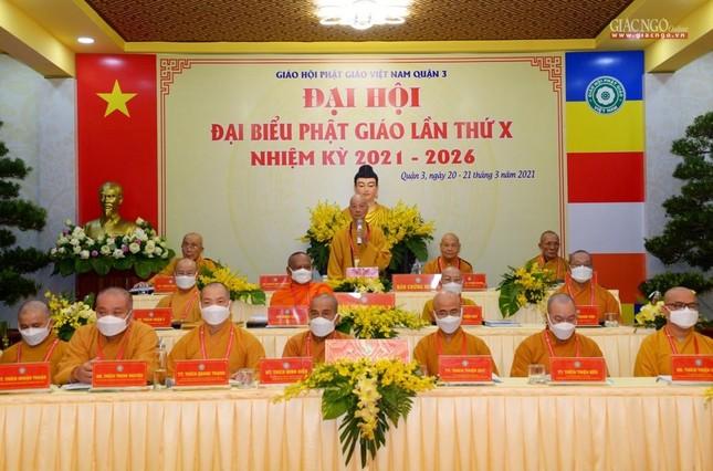 Đại hội đại biểu Phật giáo quận 3 đã suy cử Tân Ban Trị sự nhiệm kỳ 2021-2026 với 34 thành viên ảnh 1