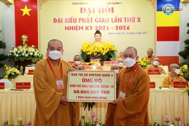 Đại hội đại biểu Phật giáo quận 3 đã suy cử Tân Ban Trị sự nhiệm kỳ 2021-2026 với 34 thành viên ảnh 35
