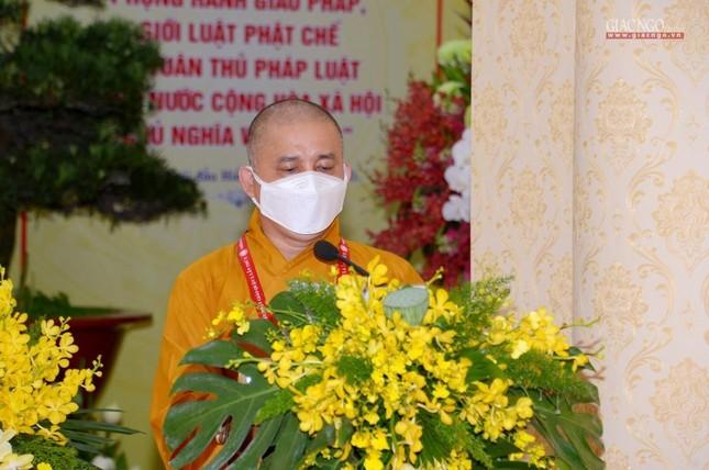 Đại hội đại biểu Phật giáo quận 3 đã suy cử Tân Ban Trị sự nhiệm kỳ 2021-2026 với 34 thành viên ảnh 37