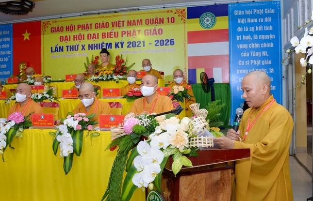 Đại hội đại biểu Phật giáo quận 10 lần thứ X nhiệm kỳ 2021-2026 thành công tốt đẹp ảnh 12