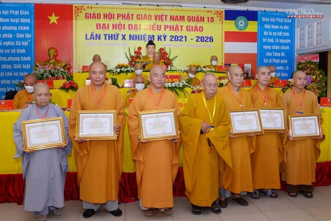 Đại hội đại biểu Phật giáo quận 10 lần thứ X nhiệm kỳ 2021-2026 thành công tốt đẹp ảnh 26