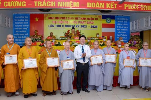 Đại hội đại biểu Phật giáo quận 10 lần thứ X nhiệm kỳ 2021-2026 thành công tốt đẹp ảnh 30