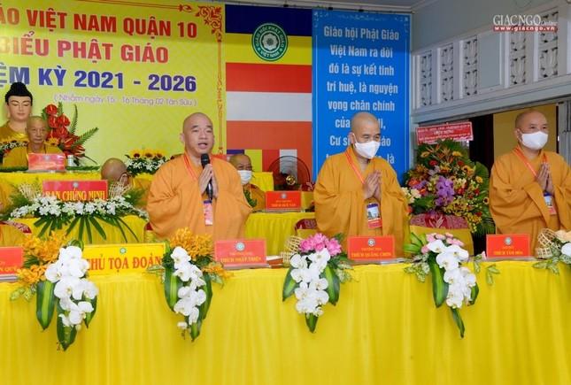 Đại hội đại biểu Phật giáo quận 10 lần thứ X nhiệm kỳ 2021-2026 thành công tốt đẹp ảnh 32