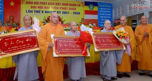 Đại hội đại biểu Phật giáo quận 10 lần thứ X nhiệm kỳ 2021-2026 thành công tốt đẹp ảnh 36