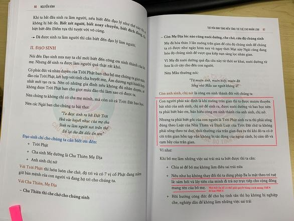 Trung ương Giáo hội đề nghị làm rõ nội dung đúng, sai trong các ấn phẩm của Câu lạc bộ Tình người ảnh 1