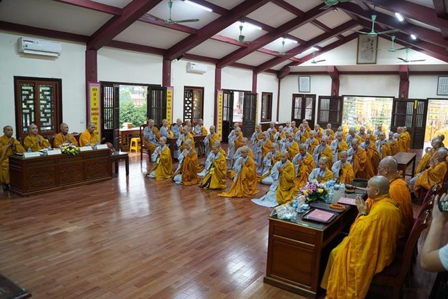 Chính thức truyền giới tại Đại giới đàn Hà Nội Phật lịch 2565 ảnh 88