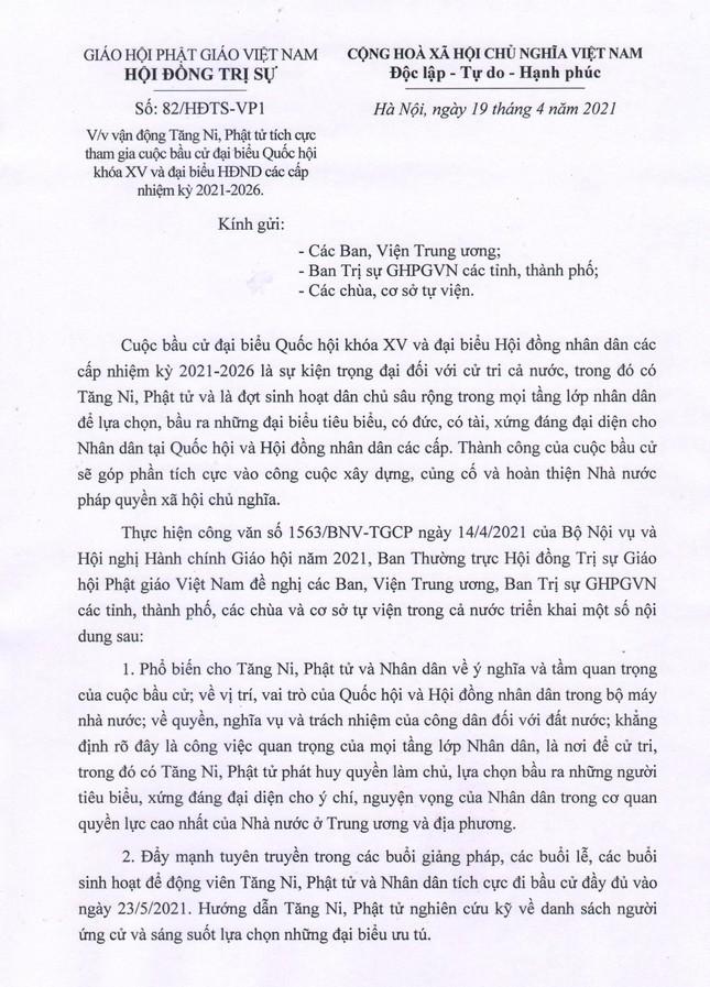 GHPGVN kêu gọi Tăng Ni, Phật tử tích cực tham gia cuộc bầu cử Quốc hội và đại biểu HĐND các cấp ảnh 3