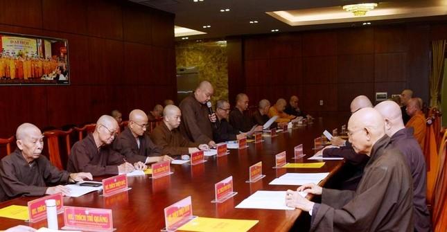 TP.HCM: Ban Thường trực Ban Trị sự thảo luận, thống nhất nhiều Phật sự quan trọng ảnh 1