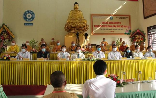 Thừa Thiên Huế: Khai mạc khóa bồi dưỡng nghiệp vụ thông tin truyền thông Phật giáo ảnh 13
