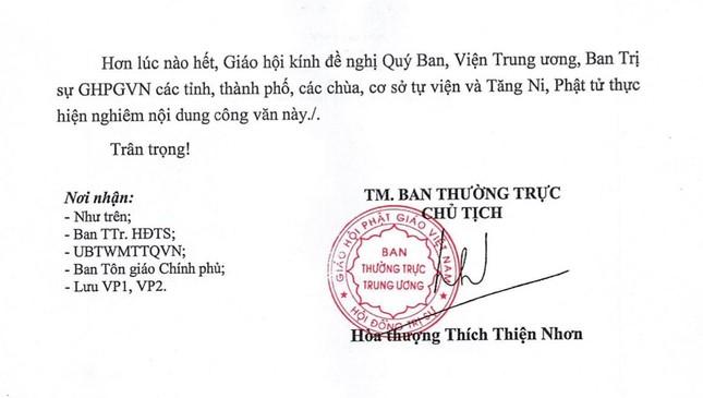 Trung ương Giáo hội kêu gọi Tăng Ni cấm túc, Phật tử ở yên một chỗ tụng kinh Dược Sư cầu bình an ảnh 2