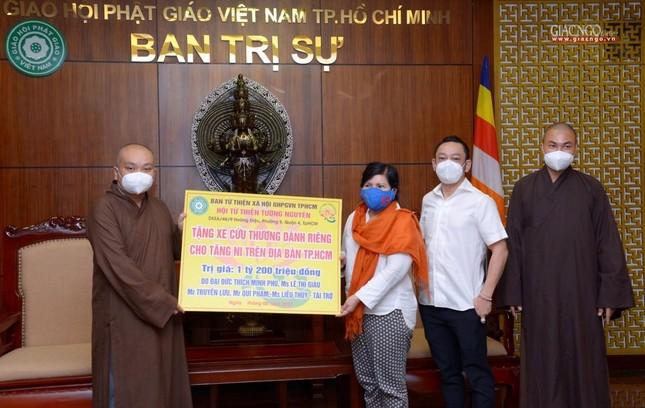 Ban Trị sự Phật giáo TP.HCM trao tặng 6 chiếc xe cứu thương phục vụ bệnh nhân ảnh 16