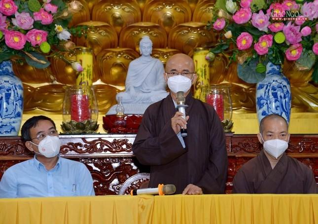Ban Trị sự GHPGVN TP.HCM thăm các chùa Vĩnh Nghiêm, Giác Ngộ, Tường Nguyên, Nam Thiên Nhất Trụ ảnh 14