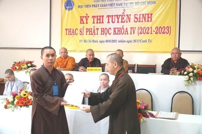 TP.HCM: Học viện tổ chức thi tuyển sinh Thạc sĩ Phật học khóa IV ảnh 3