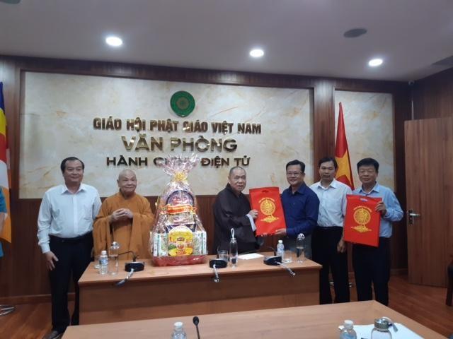 Lãnh đạo Phật giáo và chính quyền Đồng Tháp chúc Tết Trung ương Giáo hội ảnh 2