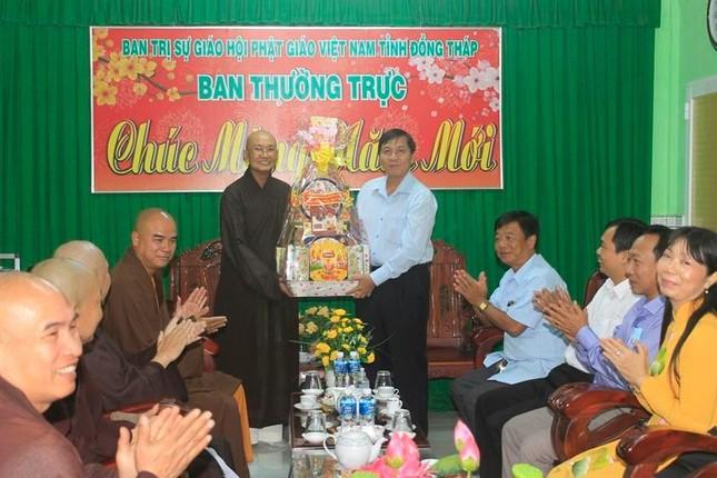 Đồng Tháp: Thường trực Tỉnh ủy Đồng Tháp thăm và chúc Tết BTS Phật giáo tỉnh ảnh 1