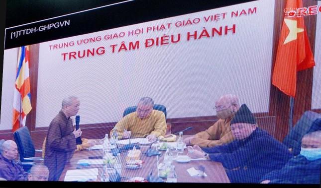 Lần đầu tiên Trung ương GHPGVN họp trực tuyến giữa 2 Trung tâm Điều hành điện tử Hà Nội, TP.HCM ảnh 4