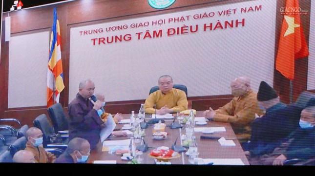 Lần đầu tiên Trung ương GHPGVN họp trực tuyến giữa 2 Trung tâm Điều hành điện tử Hà Nội, TP.HCM ảnh 2