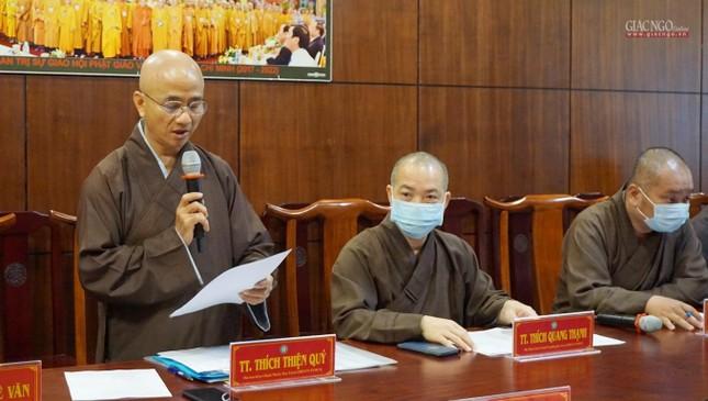 Ban Thường trực Ban Trị sự GHPGVN TP.HCM họp, triển khai các hoạt động Phật sự đầu năm ảnh 3