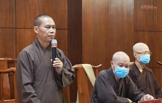 Ban Thường trực Ban Trị sự GHPGVN TP.HCM họp, triển khai các hoạt động Phật sự đầu năm ảnh 6
