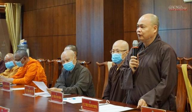 Ban Thường trực Ban Trị sự GHPGVN TP.HCM họp, triển khai các hoạt động Phật sự đầu năm ảnh 5