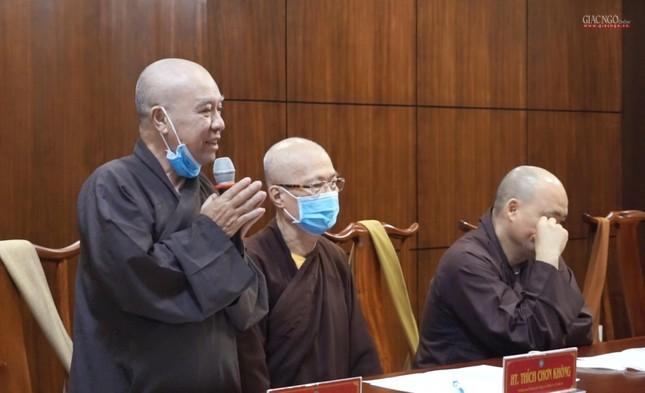 Ban Thường trực Ban Trị sự GHPGVN TP.HCM họp, triển khai các hoạt động Phật sự đầu năm ảnh 4