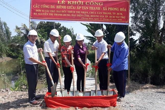 Chùa Văn Thánh khởi công xây dựng cầu nông thôn ảnh 1
