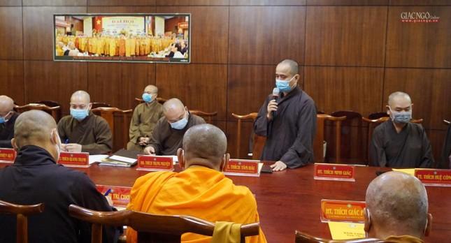 Ban Trị sự TP.HCM thảo luận các Phật sự hướng đến Kỷ niệm 40 năm thành lập GHPGVN ảnh 2