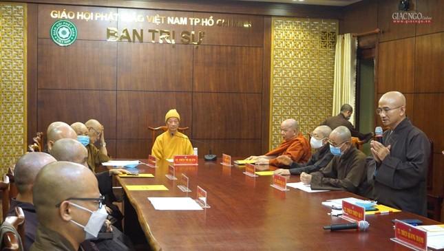 Ban Trị sự TP.HCM thảo luận các Phật sự hướng đến Kỷ niệm 40 năm thành lập GHPGVN ảnh 4