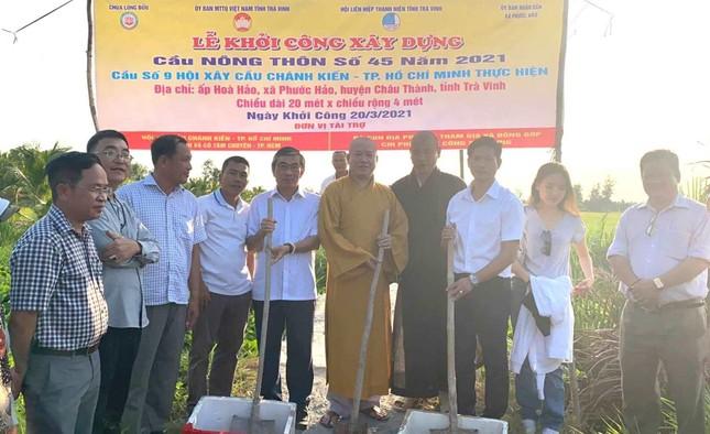 Chùa Long Bửu khởi công xây dựng cầu nông thôn số 45 năm 2021 ảnh 1