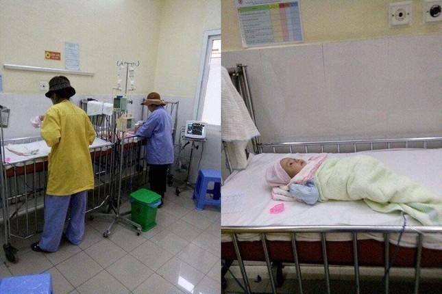 Hai cháu bé sơ sinh bị bỏ rơi trước cổng chùa Thủ Dương ảnh 1