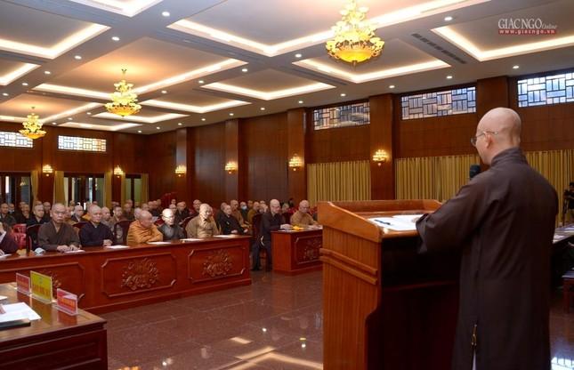 TP.HCM: Ban Trị sự họp mở rộng về Đại lễ Phật đản, 40 năm thành lập GHPGVN ảnh 11