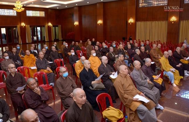 TP.HCM: Ban Trị sự họp mở rộng về Đại lễ Phật đản, 40 năm thành lập GHPGVN ảnh 9