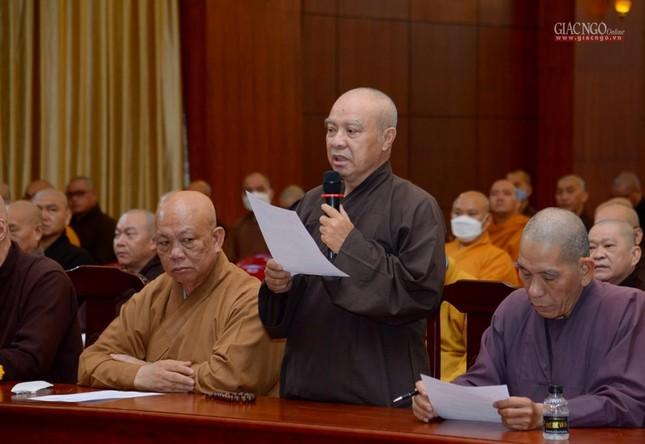 TP.HCM: Ban Trị sự họp mở rộng về Đại lễ Phật đản, 40 năm thành lập GHPGVN ảnh 6