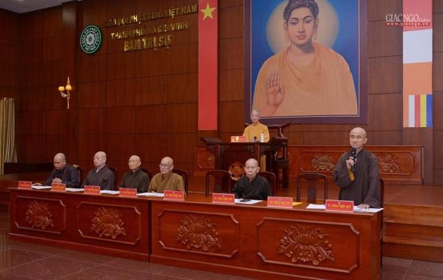 TP.HCM: Ban Trị sự họp mở rộng về Đại lễ Phật đản, 40 năm thành lập GHPGVN ảnh 2