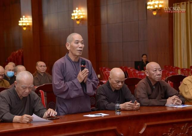 TP.HCM: Ban Trị sự họp mở rộng về Đại lễ Phật đản, 40 năm thành lập GHPGVN ảnh 8