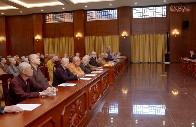 TP.HCM: Ban Trị sự họp mở rộng về Đại lễ Phật đản, 40 năm thành lập GHPGVN ảnh 3
