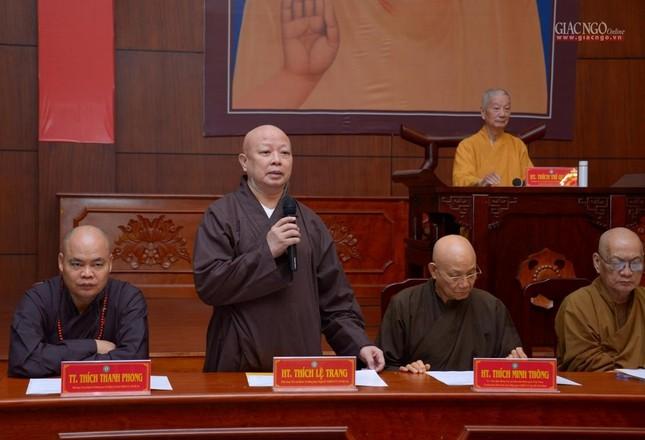 TP.HCM: Ban Trị sự họp mở rộng về Đại lễ Phật đản, 40 năm thành lập GHPGVN ảnh 5